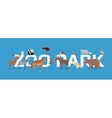 Zoo Park with Animals Banner Isolated vector image