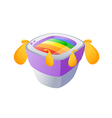 icon television vector image