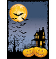 Scary pumpkins by night vector image vector image