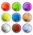 Colored glossy web buttons vector image