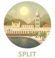 Travel destination Split vector image