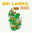 Sri Lanka Flat vector image