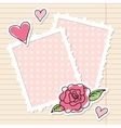 frames and rose vector image vector image