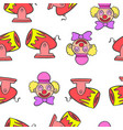Circus theme element doodle style vector image