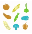 food black icon set vector image