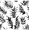 Ink seamless pattern with palm leaves vector image