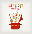 pot with vegetables vector image