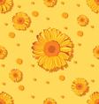 seamless sunflower pattern vector image