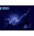 Stock Market Chart vector image