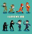 i love my job vector image