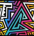graffiti geometric seamless texture vector image