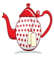 Retro red teapot vector image vector image