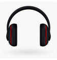 headphones icon isolated on white vector image