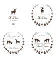 Vintage Labels Collection with Deers vector image vector image