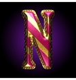 golden and red letter n vector image