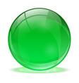 3D glass sphere vector image