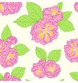 Seamless pattern with peach flowers vector image