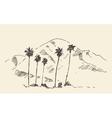 Los Angeles California Skyline Engraved Sketch vector image