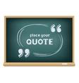 blackboard quote template vector image