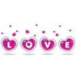 love heart vector image