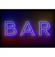 Bar neon sign design for your business vector image