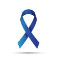 Blue ribbon isolated on white background vector image