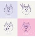 Dog Husky art vector image