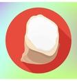 flour powder sack bag icon vector image