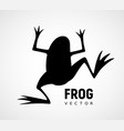 frog silhouette black and white icon vector image