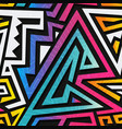 graffiti geometric seamless texture vector image