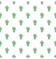 Green zombie hand pattern cartoon style vector image