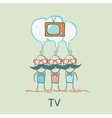 people think about the TV vector image