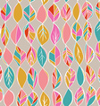 Seamless pattern with colored autumn leaves on a vector image
