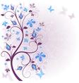 Spring floral easter frame vector image