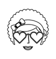 woman character afro style vector image