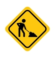 traffic yellow signal road isolated icon vector image