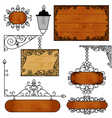a set of forged boards for ads vector image