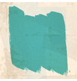 grungy green paint Strokes vector image
