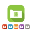 Color set of flat folder with document or book vector image