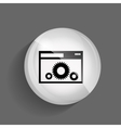 Setting Glossy Icon vector image