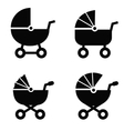 Baby carriage vector image
