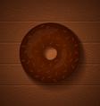 donut chocolate full vector image