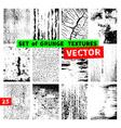 Set of grunge textures vector image