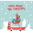 Christmass Gifts For Children On The Car vector image