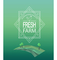 farm fresh logotype vector image