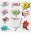 comic pop art speech bubbles collection vector image