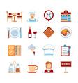 Flat Design Restaurant Icons vector image