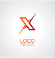 letter x abstract logo vector image