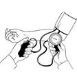 measurement of human pressure coloring book vector image