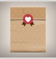 packaging brown paper bag vector image